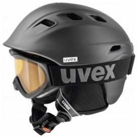 Uvex Comanche Set Helm+Skibrille - 2007 black mat - 59