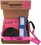 Elephant Slacklines - Addict Flashline Set 25m pink inkl. Baumschutz