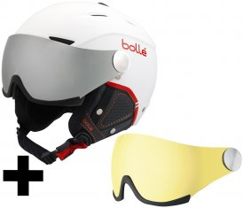 Bollé Backline Visor Premium Skihelm soft white & red/silver gun visor + lemon visor Gr. S (54-56 cm)