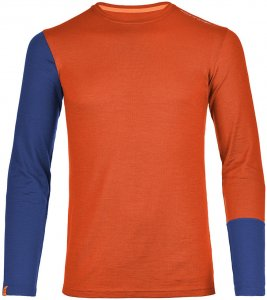 Ortovox 185 Merino rock´n´wool Long Sleeve Men crazy orange Gr. M