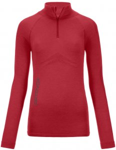 Ortovox Merino 230 Competition Long Sleeve Zip Neck Woman hot coral Gr. M