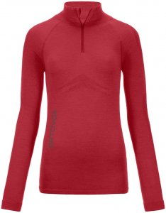 Ortovox Merino 230 Competition Long Sleeve Zip Neck Woman hot coral Gr. S