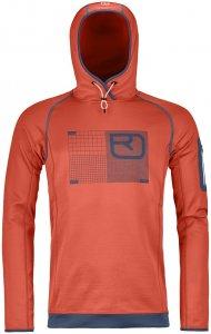 Ortovox Merino Fleece Logo Hoody Men crazy orange Gr. S