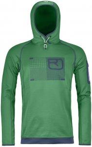 Ortovox Merino Fleece Logo Hoody Men irish green Gr. M