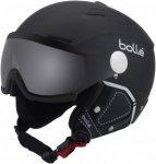 Bollé Backline Visor Premium Skihelm soft black & white/modulator silver visor