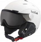Bollé Backline Visor Premium Skihelm soft white & black/modulator silver visor