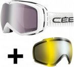 Cébé Peak Skibrille inkl. Wechselscheibe full white/dark rose silver mirror +