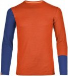 Ortovox 185 Merino rock´n´wool Long Sleeve Men crazy orange Gr. M