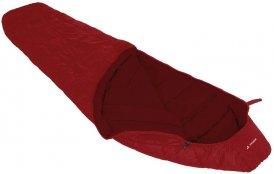 Vaude Sioux 400 Syn Kunstfaser Mumienschlafsack dark indian red RV links