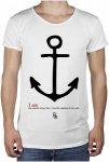 BOOM BAP Anchor R-Neck Long Back - T-Shirt für Herren - Weiß - M