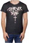 BOOM BAP Forever Young R-Neck Laser Cut - T-Shirt für Herren - Schwarz - S