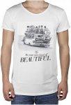 BOOM BAP Waves R-Neck Long Back - T-Shirt für Herren - Weiß - XL