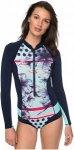 Roxy Pop Surf Cheeky 1mm L/S Front Zip - Neoprenanzug für Damen - Blau - Größ