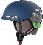 Shred Half Brain D-Lux Need More Snow Snowboard Helm - Blau - Größe S/M
