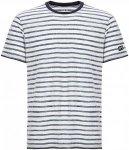 SUPER.NATURAL Relax Printed - T-Shirt für Herren - Streifen - L