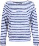SUPER.NATURAL Waterfront Slash Neck Top - Langarmshirt für Damen - Blau - XS