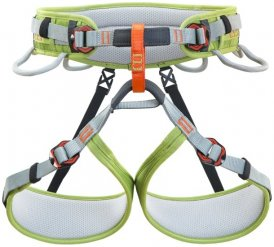 Climbing Technology Ascent Harness Junior grey/green Klettergurt 2016, Gr. XS/S