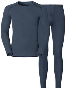 Odlo Set Shirt l/s Pants WARM - Sportunterwäsche-Komplet, Gr. S