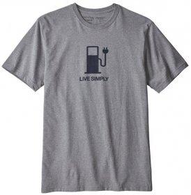 Patagonia Live Simply Power Responsibili - T-Shirt Trekking - Herren, Gr. XL