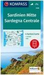 Kompass Karte Nr. 249 Sardinien Mitte 1: 50.000 4 Karten