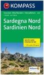 Kompass Karte Nr.2497: Sardinien Nord 1:50.000 - 4 Karten im Set