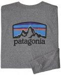Patagonia Fitz Roy Horizons Responsibili-Tee® - Langarmshirt - Herren, Gr. XL