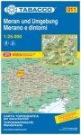 Tabacco Karte N. 011 Meran und Umgebung - 1:25.000