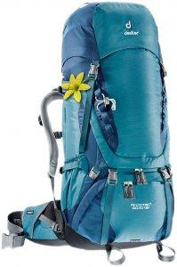 "Deuter Damen Trekkingrucksack ""Aircontact 60 + 10 SL"", blau, Gr. 60"