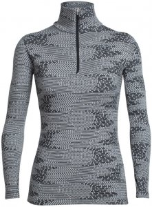 "Icebreaker Damen Shirt ""Vertex Long Sleeve Half Zip Flurry"" Langarm, grau, Gr. L"