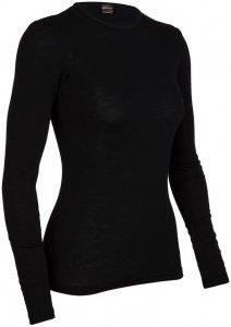 Icebreaker Damen Unterhemd Everyday LS Crewe - Langarm, schwarz, Gr. L
