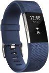 "Fitbit Herzfrequenz-Messgerät ""Charge 2"", blau, Gr. L"