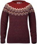FJÄLLRÄVEN Damen Pullover Övik Knit Sweater W, dunkelrot, Gr. S