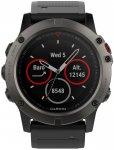 "Garmin GPS-Multifunktionsuhr ""fenix 5X Saphir"" grau/schwarz, mehrfarbig, Einheit"