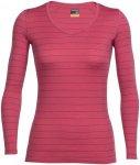 "Icebreaker Damen Outdoor-Shirt / Langarmshirt ""Oasis Long Sleeve V"", rot, Gr. XS"