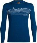 "Icebreaker Herren Shirt ""Oasis Long Sleeve Crewe Pyrenees"" Langarm, dunkelblau,"