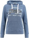 "Superdry Damen Sweatshirt ""Shirt Shop Sequin Entry Hood"", blau, Gr. S"