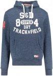 "Superdry Herren Sweatshirt ""Trackster Hood"" mit Kapuze, blau, Gr. M"