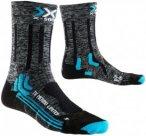 X-Socks Damen Wandersocken / Trekkingsocken, grau/schwarz, Gr. 35/36