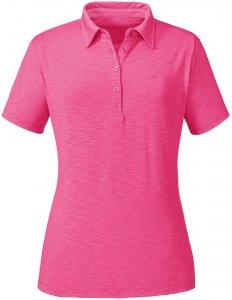 "Schöffel Damen Poloshirt ""Capri1"" Kurzarm, rose, Gr. 46"