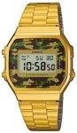 Casio A168WEGC-3EF gold / camouflage (green) Gr. Uni