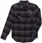 Dark Seas X Grundens Flannel II Shirt LS black rust Gr. M