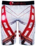 Ethika Golden Gate Boxershorts red / white Gr. M