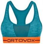 Ortovox Merino 185 Rock'n'Wool Sport Top aqua blend Gr. XL