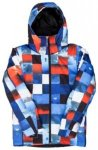 Quiksilver Mission Printed Jacket Boys blue red icey check Gr. T12