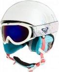 Roxy Misty Pack Goggle Helmet bright white / animals part Gr. 52