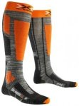 X-Socks Ski Rider 2.0 Tech Socks grey melange / orange Gr. 39/41 EU