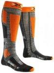 X-Socks Ski Rider 2.0 Tech Socks grey melange / orange Gr. 35/38 EU