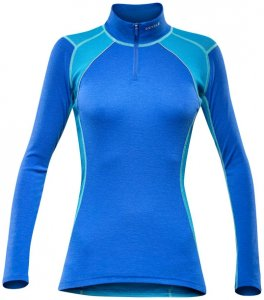 Devold Energy Woman Zip Neck planet blue/S