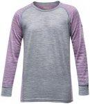 Devold Breeze Junior Shirt peony stripes/12 Jahre
