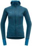 Devold Tinden Spacer Woman Jacket W/Hood blue/L